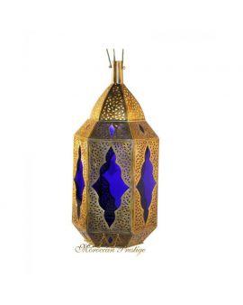 Moroccan Blue Lantern Lamp